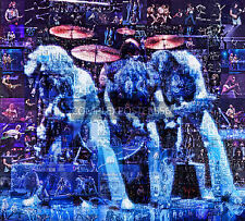 LARGE PHOTO MOSAIC POSTER IN VARIOUS COLOURS OF STATUS QUO No 9
