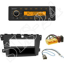 Continental TR7412UB-OR Radio + Mazda CX-7 ab 10/2009 Blende black + ISO Adapter