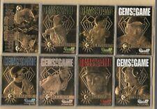 1998 Bleachers Gems Of The Game 23 KT Gold Card 8 Card Set W/COA 1296/1998