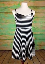 96a8cffe17d0 Old Navy Women's Black & White Spaghetti Strapped Empire Dress Sz M small  stain