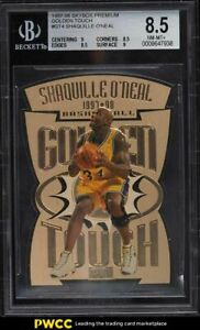 1997 Skybox Premium Golden Touch Shaquille O'Neal #GT4 BGS 8.5 NM-MT+