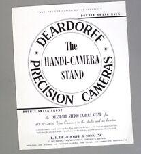 New listing Deardorff Handi-Camera Stand Data Sheet - Original Literature