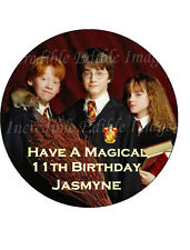 19cm Round Harry Potter Edible ICING Cake Topper