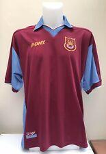 West Ham United Home Football Shirt Jersey 1997 1998 XL No Sponsor Pony Adults