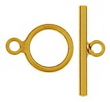 ONE STERLING SILVER STRONG TOGGLE CLASP, MEDIUM SIZE, 14 X 19 MM, GOLD PLATED