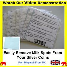Pack of 6, gold jewellery cleaning cloth coins silver cleaner polishing cloth BN