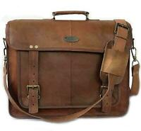 Messenger personalized Laptop Briefcase Genuine Shoulder Bag Leather Vintage