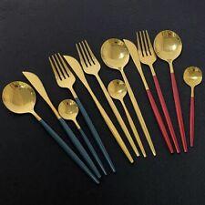Fork Spoon Knife Cutlery 24 Pieces Dinnerware Set 304 Stainless Steel Tableware