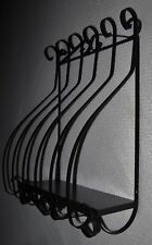 Vintage Home Interiors Wrought Iron Wall Planter Plant Holder Black