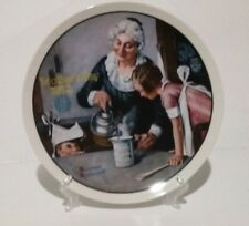 Vintage Norman Rockwell Fine China Plate The Cooking Lesson 1982 Limited Edition