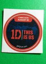 """ONE DIRECTION THIS IS US 1D MUSIC BLACK RED COMIN PHOTO SM 1.5"""" GET GLUE STICKER"""