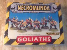 SEALED Warhammer 40k Necromunda Goliaths Plastic Miniature Set 6 Pc 1998 OOP HTF