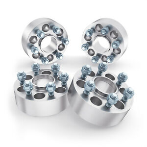 """4pc 2"""" 6x4.5 to 6x4.5 Hubcentric Wheel Spacers 