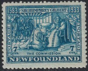 Sc# 217 Canada Newfoundland 1933 7¢ issue MLMH CV $17.50