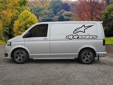 Énorme Alpinestars Motorcross/MTB Van Vinyle Sticker Autocollant X 2
