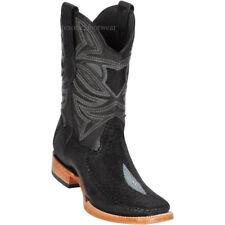 "Men's Los Altos Genuine Stingray Western Boot Square Toe Stitched Vamp 11"" Shaft"