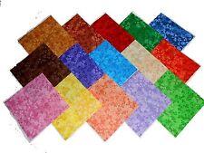 """30 5"""" Quilting Fabric Squares Beautiful Razzle Dazzle Tonals!!"""