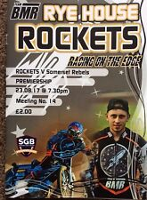 2017 RYE HOUSE v SOMERSET REBELS 23rd AUGUST    ( EXCELLENT CONDITION )
