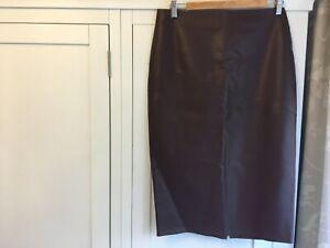Autograph Ladies Skirt  Faux Leather - Size 14