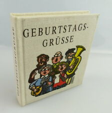 MINI LIBRO: COMPLEANNO Saluti casa editrice giovane mondo Berlino DDR e288