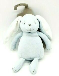 PUREBABY BLUE VELOUR RABBIT SOFT TOY NEW