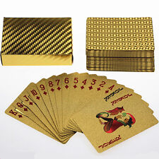 24K Gold-Foil Poker Plated Playing Cards Poker 5 sets lot wholesale Art
