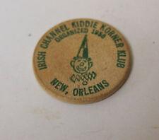 New Orleans, Louisiana Wooden Nickel token- 14th annual parade 1970 irish channe