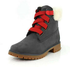 Timberland Women's Jayne Shearling-Collar Suede Waterproof Slip On Winter Boots