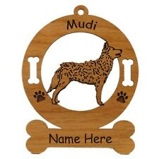 Mudi Standing Dog Ornament Personalized With Your Dogs Name 3582