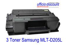 3 Toner Samsung Laser Compatibile MLT-D205L 5000 copie