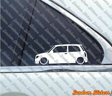 Lowered car outline stickers - for Daihatsu Cuore / Mira 3-door L700 (1998-2002)