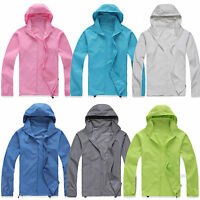 Unisex Cycling Running Hiking Waterproof Windproof Jackets Outdoor Rain Coat Top