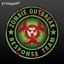 "ZOMBIE OUTBREAK RESPONSE TEAM Sticker ""Bloody"" Biohazard Vinyl Decal Car #FS914"