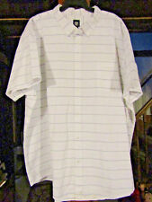 ROUTE 66 4XLT DRESS/CASUAL WHITE WITH A GRAY WIDE STRIPE  BUTTON DOWN SHIRT NWOT