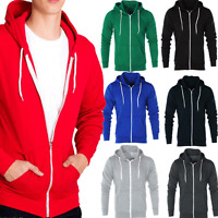 AARHON Mens Boys Hoody Sweatshirt Plain American Hooded Fleece Zip Up Jacket Zip