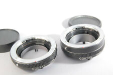 CONTAX Auto Extension Tube Set 13mm 20mm [Excellent] w/ Caps From Japan