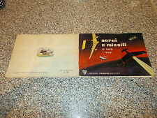 ALBUM AEREI E MISSILI PANINI 1965 CON 117 FIGURINE SU 200 B/OTT TIPO EDIS LAMPO