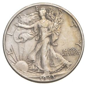 AU/Unc - 1943-D Walking Liberty Silver Half Dollar - Better *718