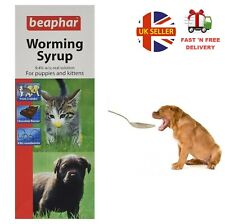 More details for beaphar worming syrup 45 for dog cat kitten and puppy wormer treatment roundworm