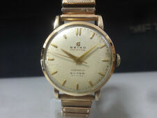Vintage 1955 SEIKO mechanical watch [SUPER] 15 Jewels Antishock 14K Gold Filled