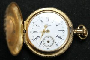"Pre-1908 Tavannes ""Bijou"" 0s Pocket Watch w/ GF Hunter Case - Parts/Repair"
