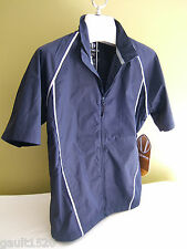 NWT Sunice Weather Gisele Short Sleeve Windshirt Golf Blue Breaker Jacket M $128