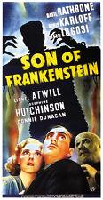 Son of Frankenstein (1939) Bela Lugosi Boris Karloff Horror movie poster