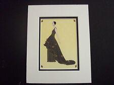 "Art Deco  Erte ""Roses De Nuit"" matted art print"