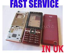 Body Case Keypad Fascia Housing Back Battery Cover For S.E J105 J105i  RED