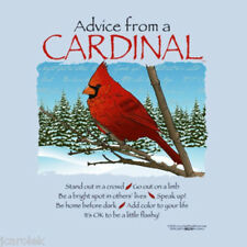 BIRD T shirt Advice From Nature Cardinal Cotton NWT Blue New Gildan Short Sleeve