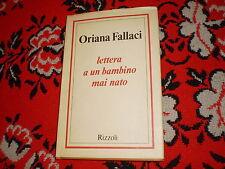 oriana fallaci lettera ad un bambino mai nato rizzoli cart. sovr. 1986
