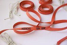 15mm X 2000mm,150W 120V,Keenovo Silicone Heater Strip, Pipe/Tube Heating Belt
