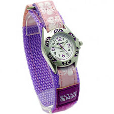 Ravel Hibiscus Velcro Strap Girls Analogue Wrist Watch R1507 Lilac
