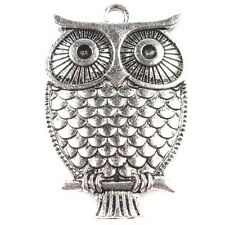 15pcs New Arrival Antique Silver Owl Shaped Charms Alloy Pendants Findings BS